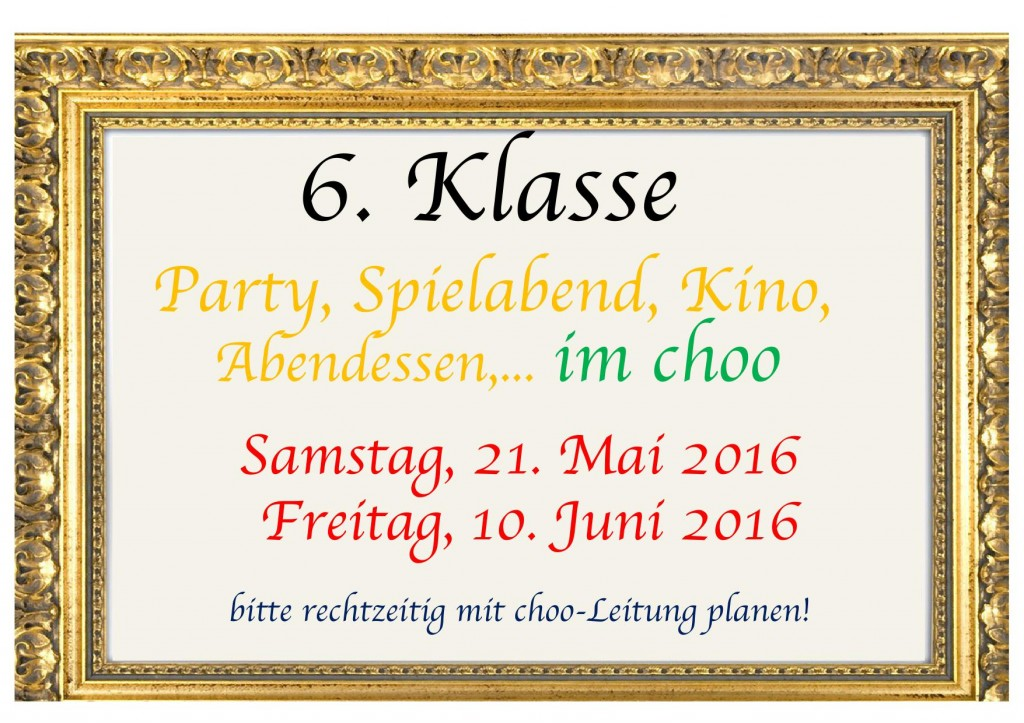 Events 6Klasse