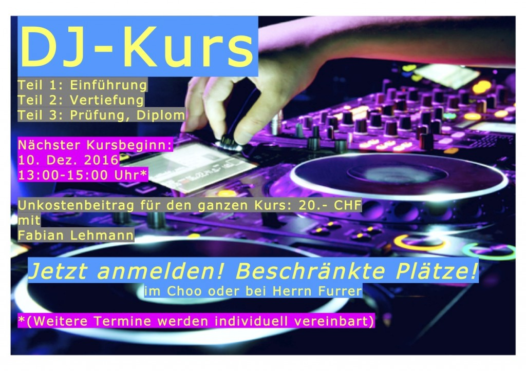 Flyer DJ-Kurs Dez 16